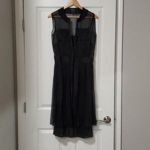 Barney's tank dress with double pocket and slip